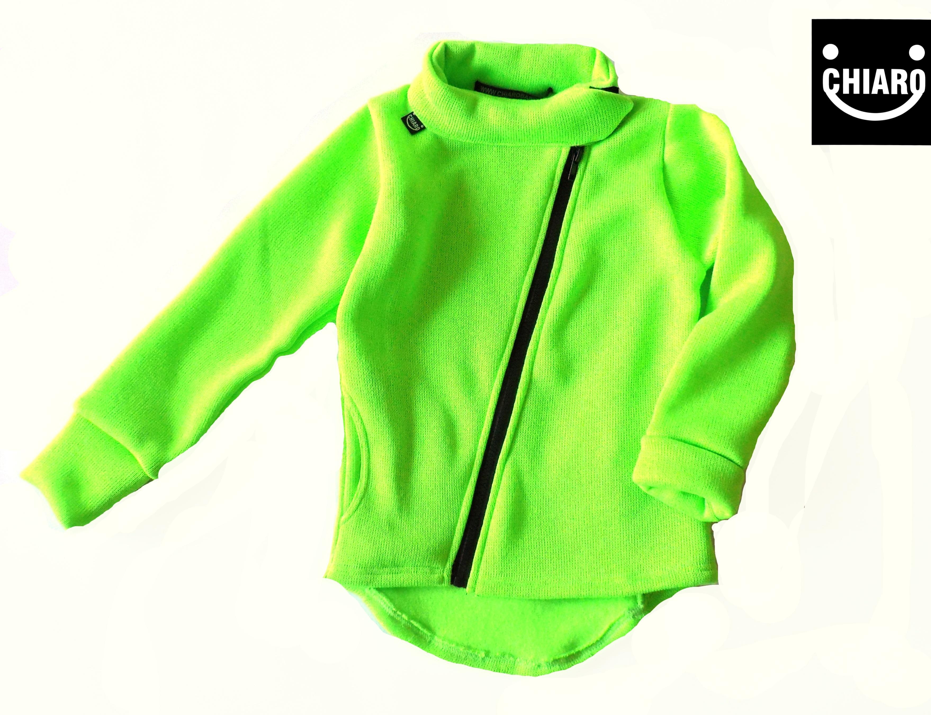 CHIAN Neonově zelená mikina  1c106ba6464